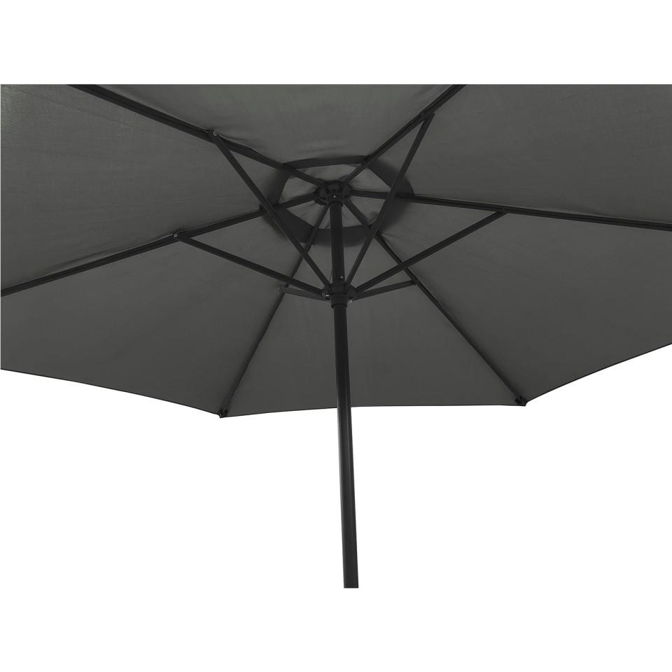 Table de jardin 150 cm + 6 fauteuils textilène Noir + ...