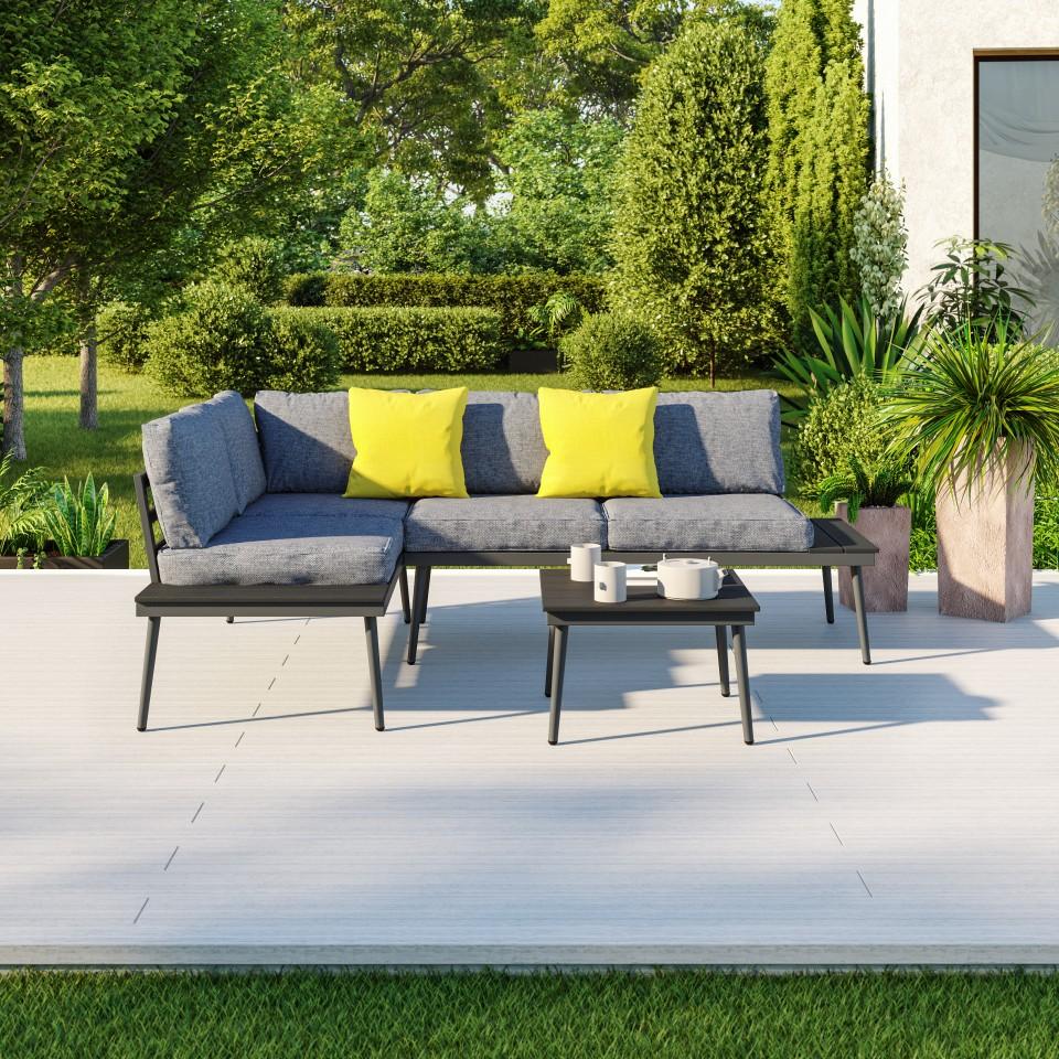Couleur De Salon Gris salon de jardin design, gris, 4 places