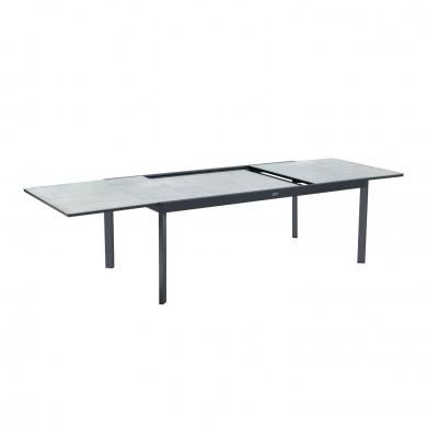 Table de jardin extensible aluminium - 200/300cm - 10 places - ARONA