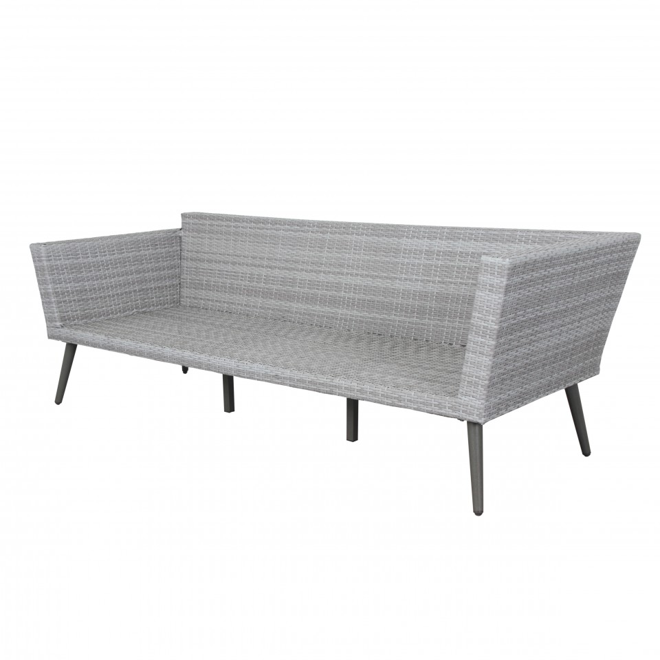INA - Ensemble salon de jardin scandinave aluminium et ...