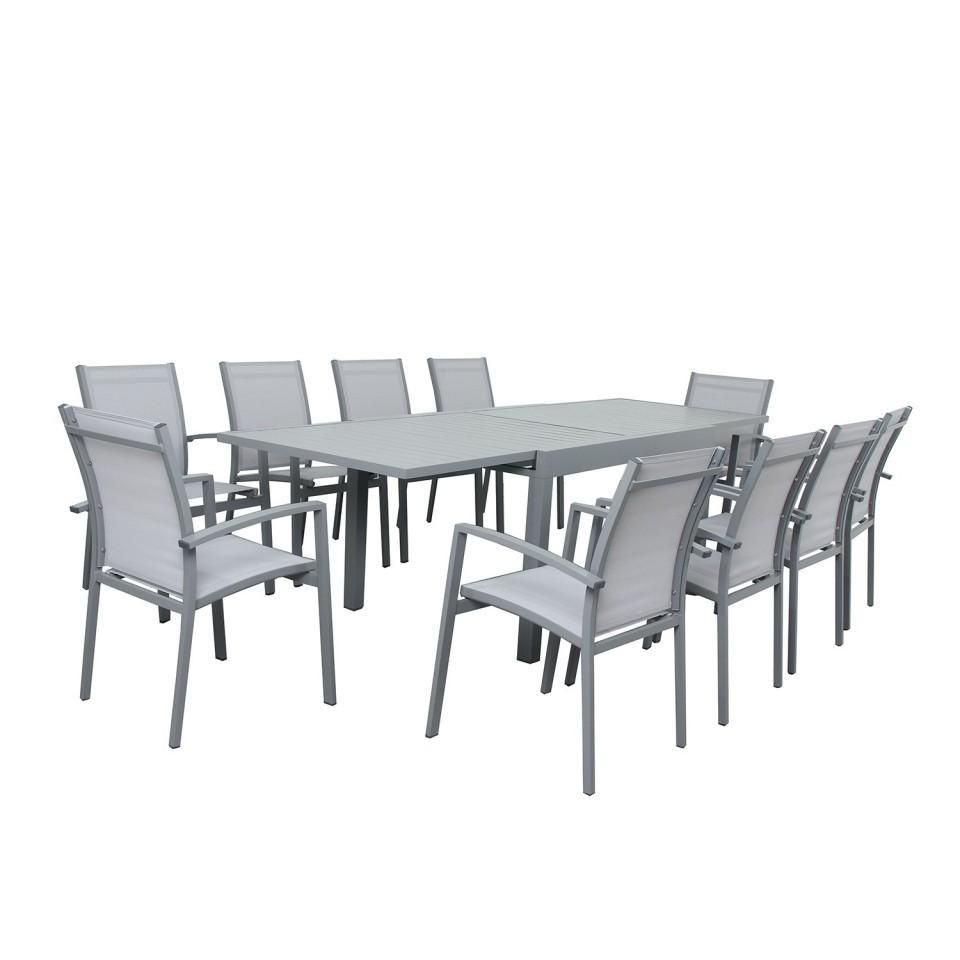 De Table Jardin 135270cm10 Extensible Andra Aluminium ZPkXiOu