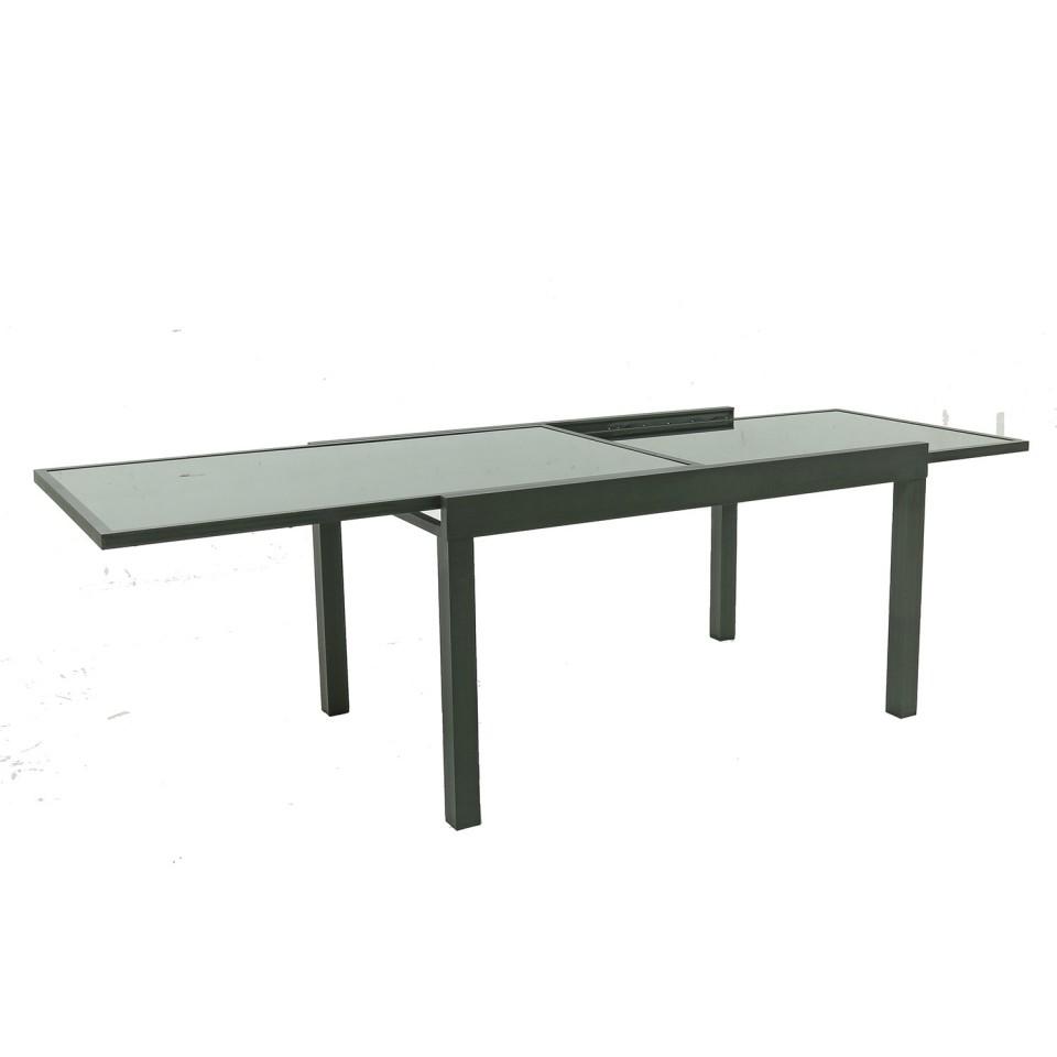 FARO - Table de jardin extensible aluminium 140/280cm + 10 ...