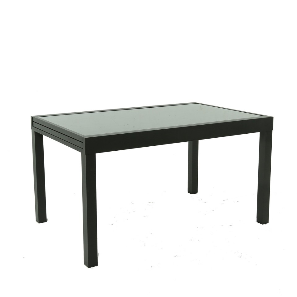 HARA XL - Table de jardin extensible aluminium 140/280cm + 8 ...