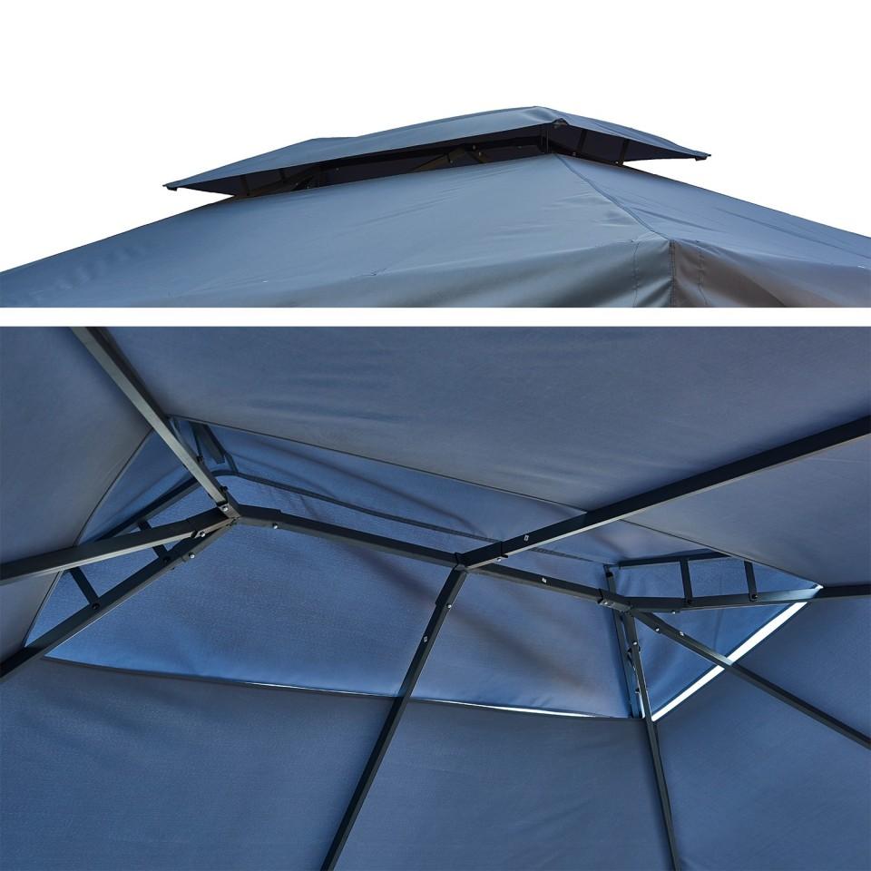 Systeme De Rideau Coulissant tonnelle/pergola aluminium 3x4m rideaux coulissants tente de