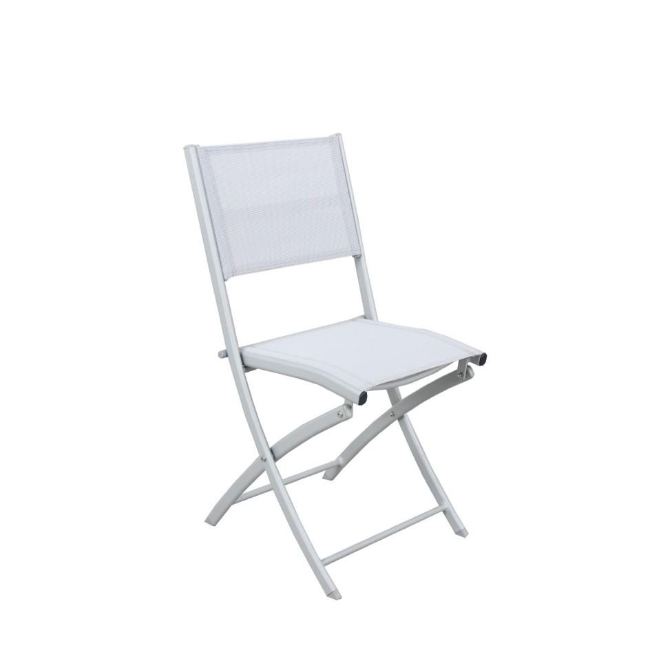 BORA - Table de jardin extensible aluminium 90/180cm + 4 ...