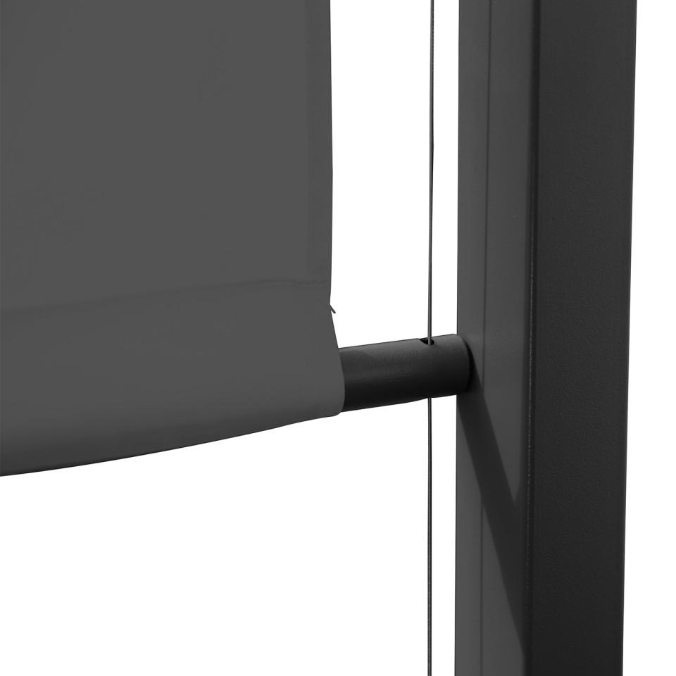 Tonnelle/Pergola acier 3x3m toile coulissante - Tente de ...