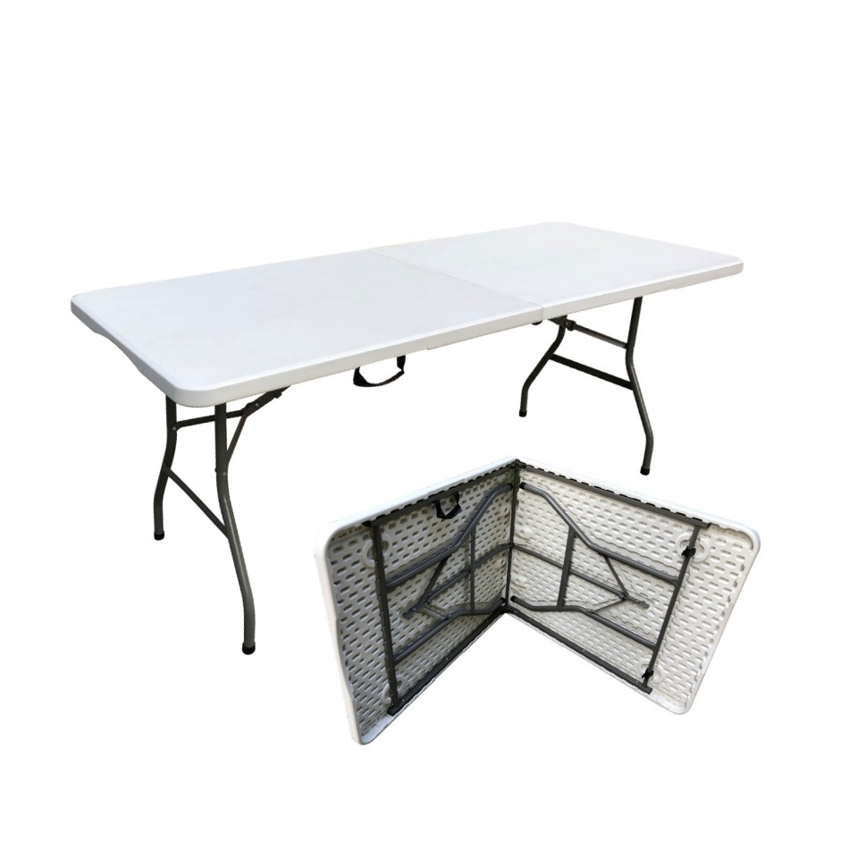 Table pliante 180 cm jardin/camping portable - 8 places - Avril Paris