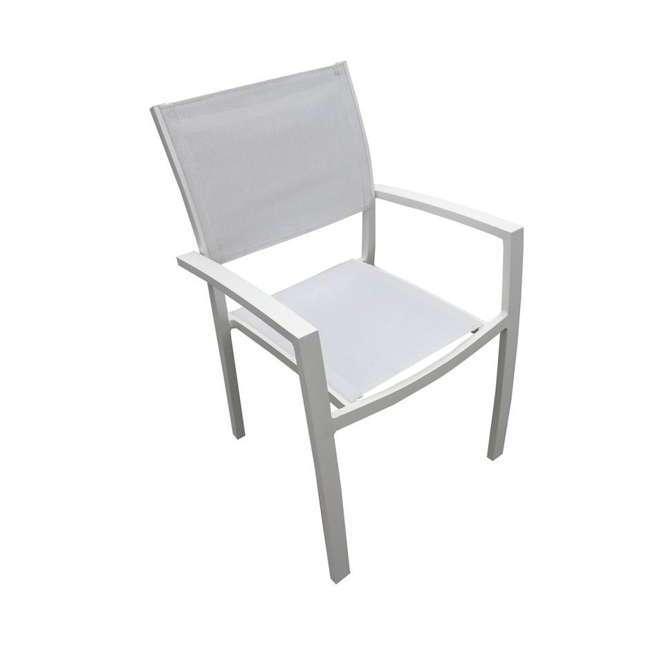 PALMA 8 - Table de jardin extensible aluminium blanc gris ...