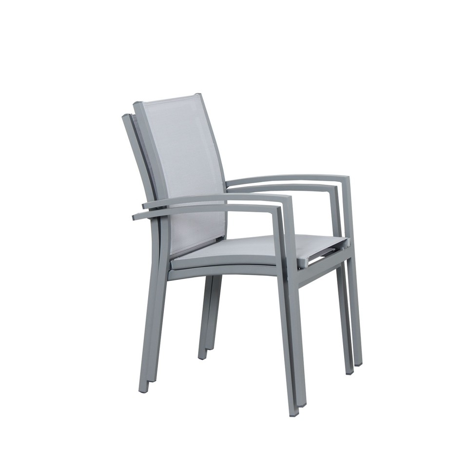 Table de jardin extensible aluminium 135/270cm + 10 ...