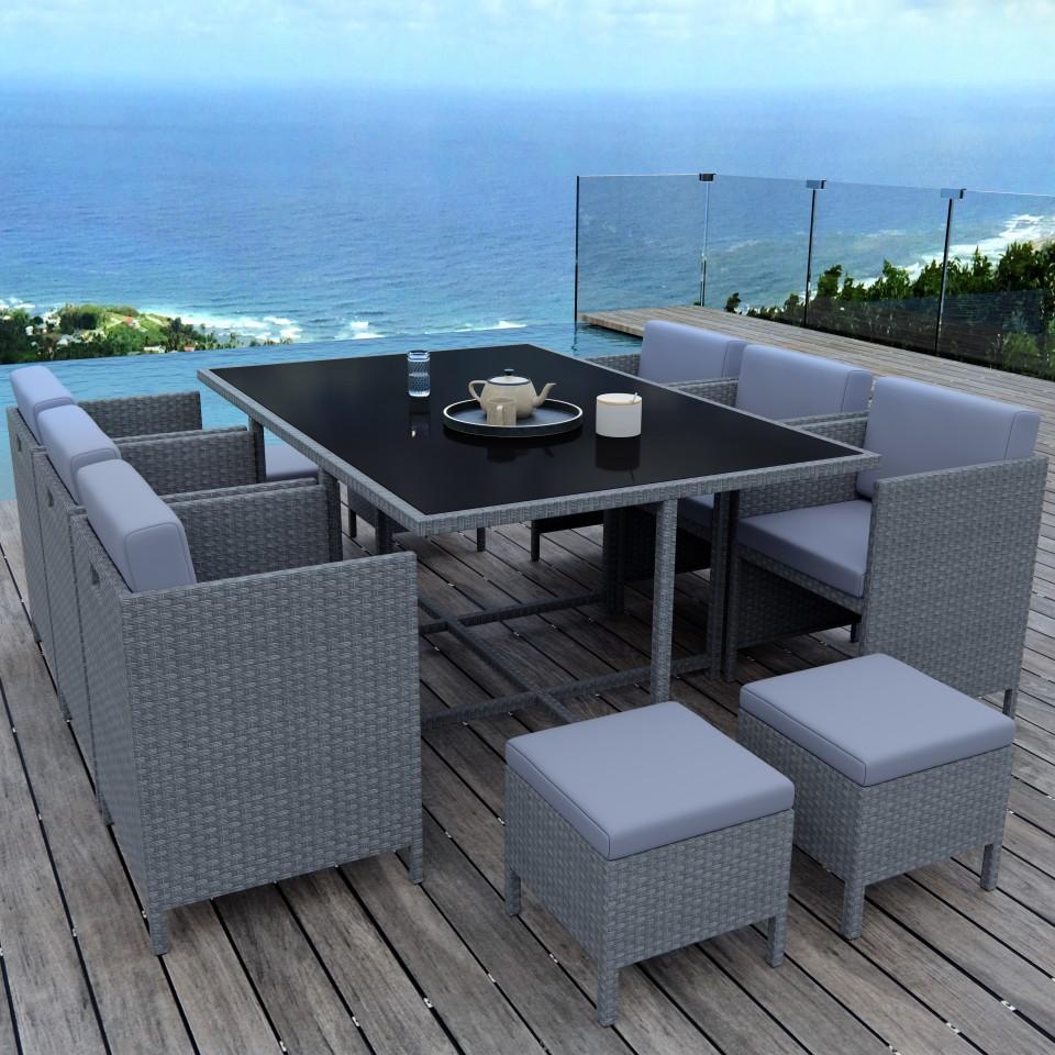 MUNGA 10 Places - Ensemble encastrable salon / table de jardin ...