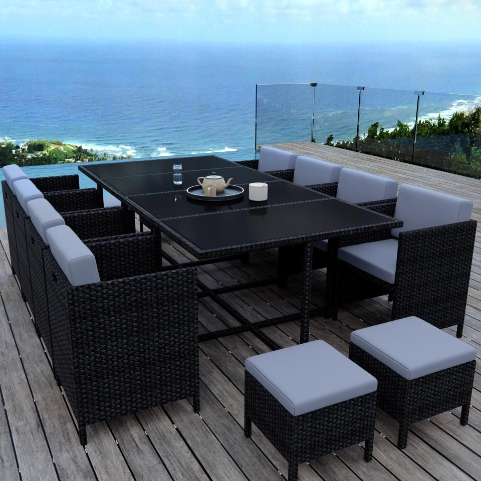 MUNGA 12 Places - Ensemble encastrable salon / table de jardin ...