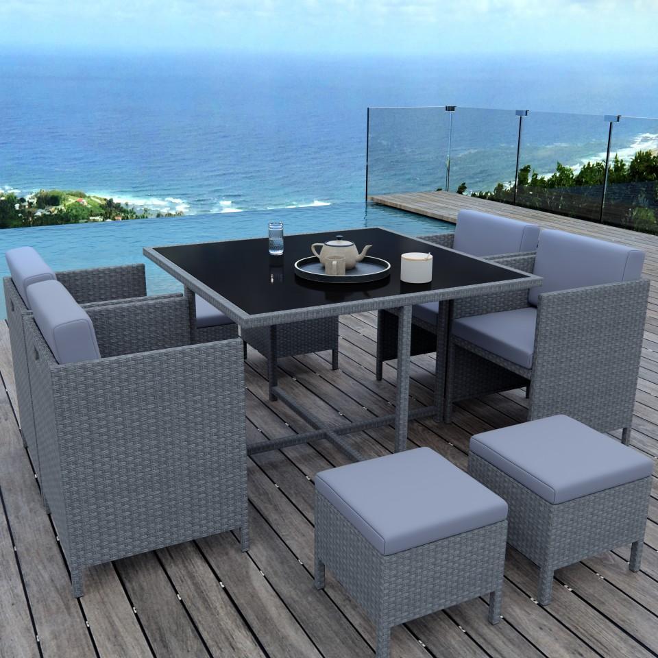 MUNGA 8 Places - Ensemble encastrable salon / table de ...
