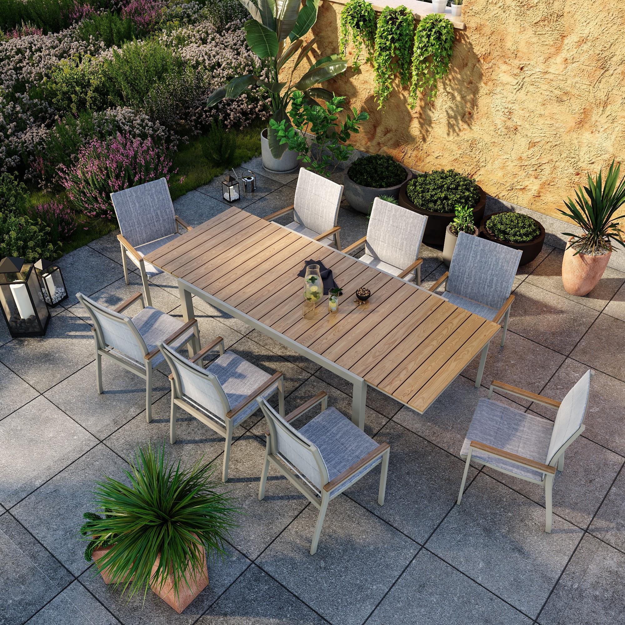 Ensemble de jardin table et chaises Alma